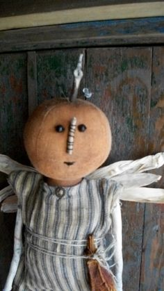 Mary Thorten a Pumpkin Angel by countrypresence on Etsy, $65.00