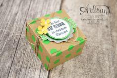 Stampin´ Up! - Artisan Design Team - Envelope Punch Board - Verpackung mit Verschlusslasche - Besonderes Designerpapier Sommerglanz - 6