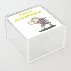 future archaeologist Acrylic Box by edream Acrylic Box, Cute Gifts, Toy Chest, Future, Storage, Beautiful Gifts, Purse Storage, Future Tense, Larger