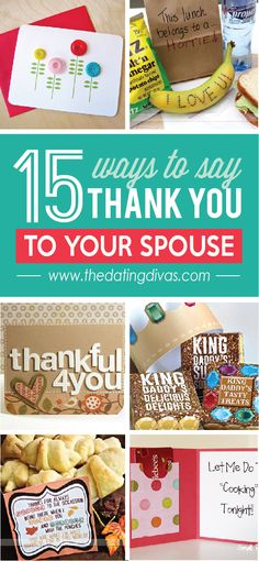 15 ways to say Thank You to your Spouse