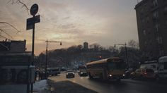 An evening in Winter #nyc #schoolbus #vsco #winter