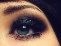 Black eyeshadow used right