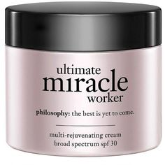 philosophy ultimate miracle worker multi-rejuvenating cream, SPF 30 2... (100 AUD) ❤ liked on Polyvore featuring beauty products, skincare, face care, face moisturizers, beauty, fillers, makeup and anti aging face moisturizer