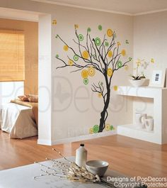 Music tree 71 H  Modern Vinyl wall decals stickers by popdecors, $58.00