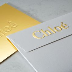 "371 Likes, 4 Comments - Imprimerie du Marais (@imprimeriedumarais) on Instagram: ""Raised gold foil embossed envelope and blind debossed invitation for @chloe . . .…"""
