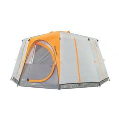 The Coleman® Octagon 98 tent makes camping easy so you can enjoy every moment of your outdoor adventure. In about 15 minutes you can have the tent set up or taken down. Steel poles create a tough frame, and color-coded pole attachments make setup easy. The spacious interior fits two queen-sized airbeds or 8 people in sleeping bags. There's even a privacy divider that you can adjust to create just the kind of space you need, and two doors allow you to enter or exit. Two inner storage pockets…