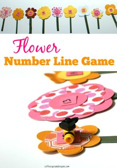 Create a number line out of flowers to make learning math a little more fun. Use the flower number line game for number order, counting, addition, subtraction, and more. Math Activities For Kids, Learning Games For Kids, Learning Numbers, Spring Activities, Fun Math, Math Games, Learning Place, Number Activities, Educational Activities