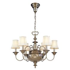 Hudson Valley Lighting Yorktown Collection - Six Light Chandelier 8716 - Chandelier Lighting - Traditional Lights 3 Light Chandelier, Chandelier Shades, Brass Chandelier, Lighting Sale, Barn Lighting, Barn Light Electric, Victorian Lighting, Rustic Wall Sconces, Lighting Manufacturers