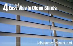 Easy ways to clean blinds. I hate the look of metal blinds but I do have to admit they were easier to clean Household Cleaning Tips, Homemade Cleaning Products, Deep Cleaning Tips, House Cleaning Tips, Cleaning Solutions, Spring Cleaning, Cleaning Hacks, Cleaning Supplies, Household Cleaners