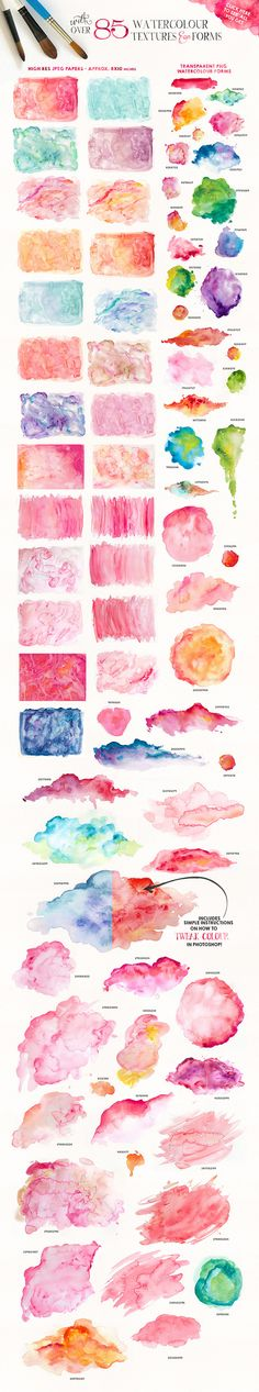 Easy watercolor paintings, watercolor textures, aqwarelle ideas, watercolour inspiration, tutorials that i love and inspirational diferentes toques de Watercolor Tips, Watercolour Tutorials, Watercolor Texture, Watercolor Techniques, Art Techniques, Watercolor Paintings, Watercolors, Abstract Paintings, Oil Paintings