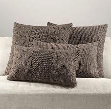 winter decor / knitted pillow