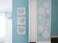 Travel Themed Nursery; I think it would be great to have a heart map for each birth place for mom, dad and baby!