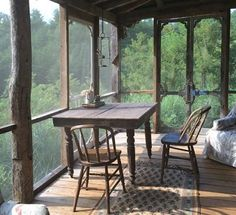 Cabin screened porch