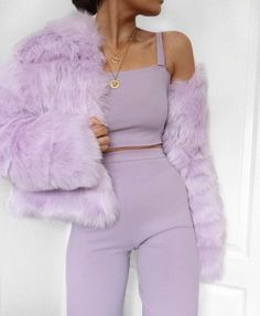 30 Fantastic Fall Outfits from Stylish for Ladies, You can collect images you discovered organize them, add your own ideas to your collections and share with other people. Lila Outfits, Purple Outfits, Mode Outfits, Trendy Outfits, Fashion Outfits, Fashion Trends, Co Ords Outfits, Ladies Fashion, Fashion Top