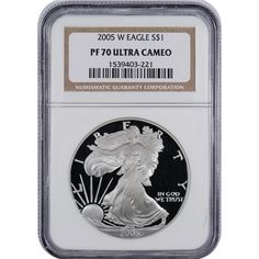 2005-W U.S. American Eagle 1 oz Pure Silver Dollar PF70 Ultra Cameo NGC