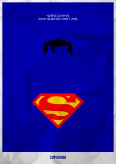 Superman (1978) ~ Minimal Movie Poster by Lucas Felipe #amusementphile