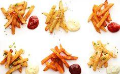 Découvrez de nouvelles sortes de frites, comme des frites de légumes racines, d'avocats, d'asperge et plus! Essayez-les toutes!
