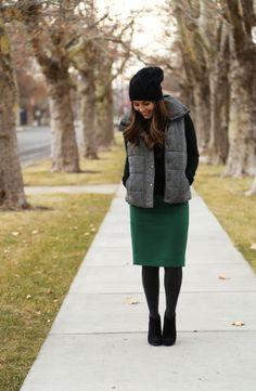 that green skirt tho.
