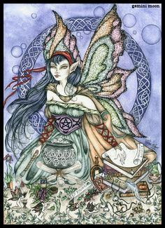 witches magick   Green Witch ♥Black Cat ♥Magick ♥Enlightenment♥ They say witch I say fairy..