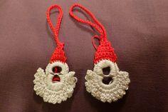 DIY – Nisser af dåseclips | Lindas-netsted Coke Can Crafts, Crochet Pokemon, Pop Tabs, Santa Ornaments, Christmas Knitting, Diy Crochet, Holiday Crafts, Lana, Crochet Earrings