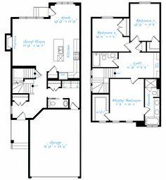 1000 images about house plans on pinterest otr for Open concept house plans with loft