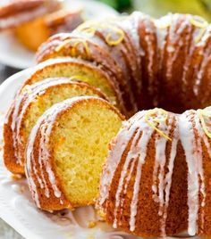 Here's one of those amazing lemon desserts-a limoncello lemon cake that has great appeal from the cake tin that is used, to the drizzle of lemon glaze ..