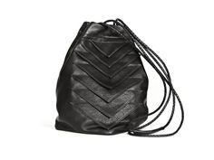 Tryst Bag Black Leather. via The Cools
