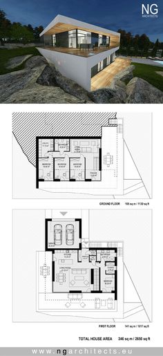 modern house plan Villa Emelie in Stockhol by NG architects www.ngarchitects.eu