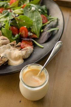 Magic Summer Sauce by thekitchn: Just 3 ingredients. No cooking required,. Try it as a last-minute dip or sauce or grilled or fresh vegetables, and to spice up a simple chicken breast. #Sauce #Summer #Easy #Light #Yogurt #Dijon_Mustard #Sriracha