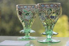 Emile Gallé - deux verres à collerettes - Musée Ecole de Nancy