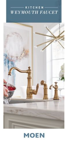Our elegant Weymouth faucet boldly pairs with your modern kitchen remodel for a blended expression. Our elegant Weymouth faucet boldly pairs with your modern kitchen remodel for a blended expression. My Living Room, Interior Design Living Room, Rustic Kitchen Design, Kitchen Modern, Kitchen Designs, Kitchen Ideas, Rustic Home Interiors, Kitchen Styling, Elegant