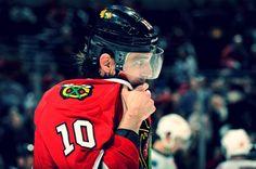 No. 10, Patrick Sharp.  #blackhawks #hockey