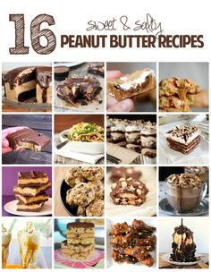 Sweet and Salty Peanut Butter Recipes
