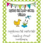 This packet includes purposeful activities to incorporate into your instruction of the Reading Street selection story, Ruby in Her Own time. Many o...