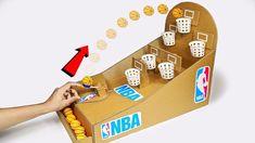 How to make NBA Basketball Slam Dunk Arcade Board Game from Cardboard DIY at Hom. - - How to make NBA Basketball Slam Dunk Arcade Board Game from Cardboar
