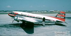 Braniff DC-3 (C53-DO) N34950 Line Number 7399 Originally delivered to MID-CONTINENT Airlines. It joined Braniff's fleet in 1952 when the two airlines merged. The plane was sold in 1959.