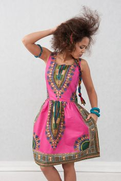 Afrikanisches, buntes Sommerkleid, Ethno Look / colorful african summer dress made by KOKOworld via DaWanda.com
