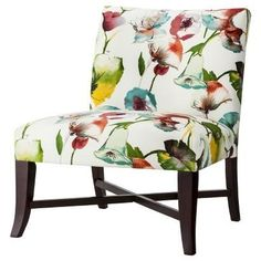 Multi Colored Accent Chairs   SkyLine Design Accent Chair: Upholstered Chair: Owen X-Base Slipper ...