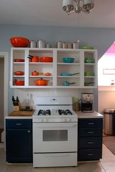 I had kitchen cabinets with no doors. They did NOT look like this.