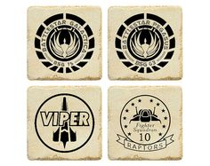 Battlestar Galactica Coasters + other comic con inspired items for your home