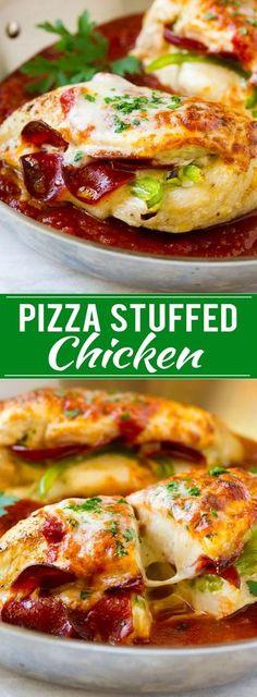 Pizza Stuffed Chicken Recipe | Stuffed Chicken Breast | Baked Chicken Breast | Easy Chicken Recipe