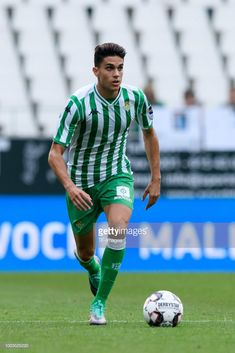 Marc Bartra of Betis controls the ball during the Interwetten Cup match between Rot-Weiss Essen and Betis Sevilla at Stadion Essen on July 2018 in Essen, Germany. Marc Bartra, Soccer Guys, Soccer Players, Cute Teenage Boys, Cute Boys, Beautiful Men, Hot Guys, Sporty, Football