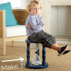 Time out chair! Neat idea - even though I do not agree with this form of discipline
