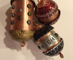 """Jewelry made from 3/4"""" wide copper pipe and bottle caps"""