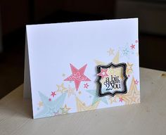 Starry Birthday Card by Maile Belles for Papertrey Ink (March 2012)