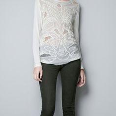 white shirt @zara