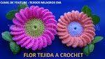 Gorro Espiral con Flor tejido a crochet con indicaciones para cualquier edad - YouTube