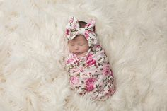 pink swaddle, infant and newborn baby floral blanket