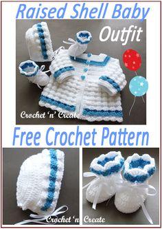 Baby Knitting Patterns, Crochet Baby Cardigan Free Pattern, Crochet Baby Jacket, Crochet Baby Sweaters, Baby Sweater Patterns, Baby Girl Crochet, Crochet Baby Clothes, Crochet Baby Hats, Crochet For Kids