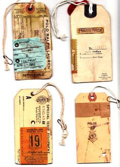 Loving these warn tags. Anybody have any old library cards I can have?